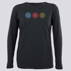 Peace Love Lost [dh_i] Plus Size Long Sleeve Tee